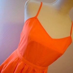 Neon orange J Crew Cami Dress 4